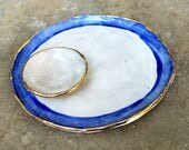 Blue and Gold Large Plate