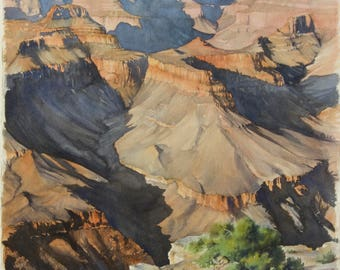 Late Afternoon at the Grand Canyon by Yvonne Johnson