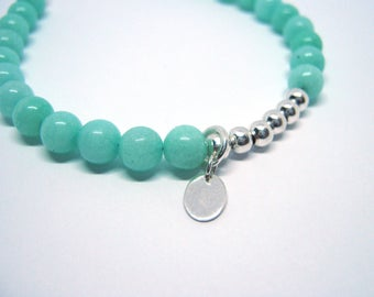 Gemstone bracelet, Real silver bracelet, Gemstone bracelet, Green bracelet, Real silver jewellery, Handmade jewellery, Birthday gift for her