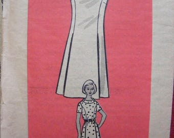 """ON SALE 35% OFF Vintage Misses' One Piece Dress Mail Order Sewing Pattern 9337 size 14 bust 36"""""""