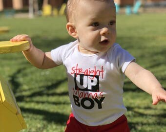 Straight up mama's boy shirt or onesie, toddler boy, baby boy, humor tee, funny saying boys shirt, graphic tee