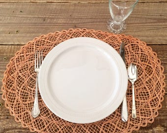 Set of 6 Vintage Woven Placemats