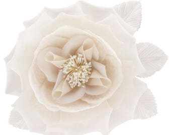 Ivory silk and organza flower