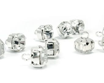 4 buttons rhinestone diamond set 9 mm