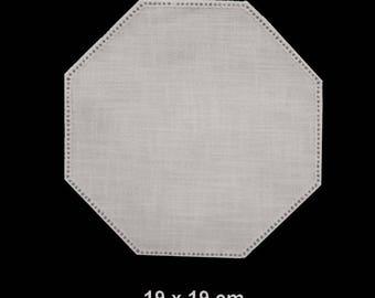 Octagon shape fine canvas cotton and modal