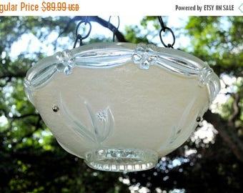 40% OFF SALE Hanging glass bird bath - glass bird feeders