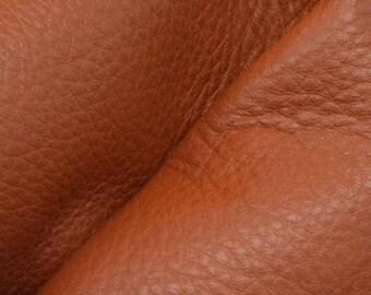 "NZ Deer Sale Warm Apple Cider Brown Leather New Zealand Deer Hide 12"" x 12"" Pre-cut 3-3 1/2oz-9 DE-66105 (Sec. 6,Shelf 6,B)"