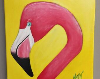 Original Flamingo Painting Florida Painting Acrylic Painting