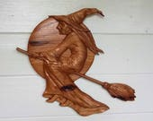 Wooden Halloween Witch De...