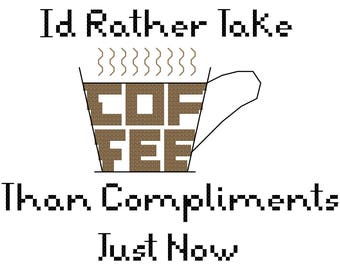 Little Women Coffee Quote Sampler Cross Stitch - PDF - Instant Download