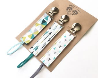 Pacifier Clips - Rocky Collection