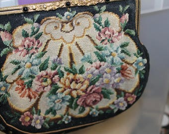 Antique Evening Purse,  Change Purse, Fashion, Fashion Accessory  Fsshion Statement.  It is very Nice Inside. It is in Great Condition