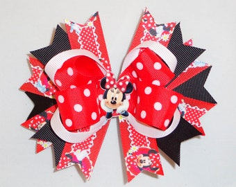 Boutique Hair Bow Minnie Mouse Clip