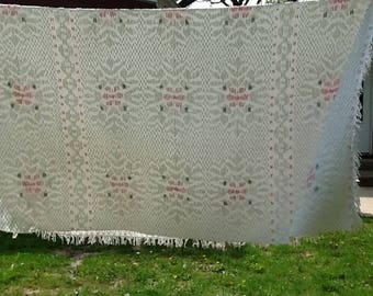 Mid Century PENNEYS Fashion Manor Full/Double Chenille Bedspread *As Is*