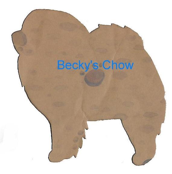 Puppy Bows ~ Chow Chow dog breed plastic craft stencil