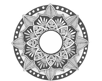 Original hand drawn mandala