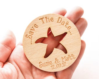 Beach Save The Date - Save The Ocean - Save The Date Magnet - Rustic Ocean Save The Date Magnet - Ocean Save The Date