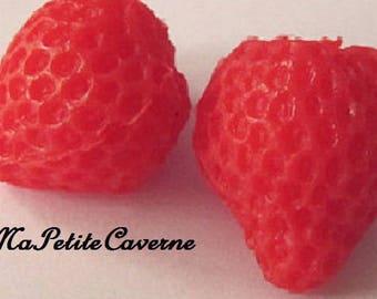 miniature Strawberry plastic polymer