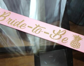 Custom bridal sash