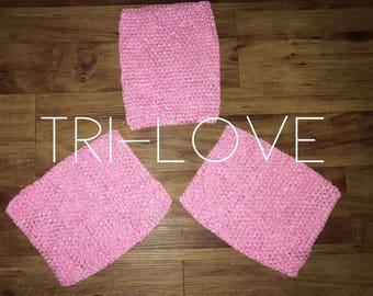 "9 Inch Crochet Tutu Top, Tube Tops, Tutu Supply, Large, Tutu top, tutu crochet top, 9"" tutu top, Bubble Gum pink crochet tutu top"