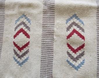 hand woven vintage native american beige area rug
