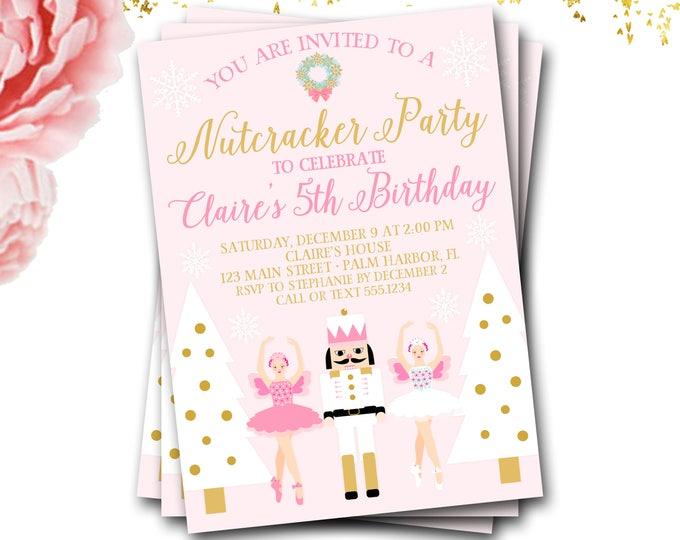 Nutcracker Birthday Invitation, Nutcracker Invite, Ballet Birthday Invitation, Winter Birthday Invitation, Nutcracker Invite, DIY Printable