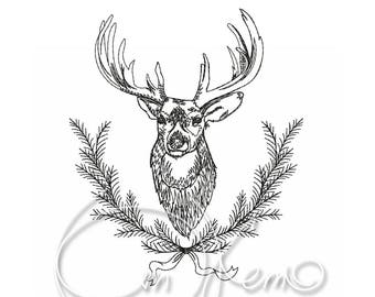 MACHINE EMBROIDERY FILE - Deer