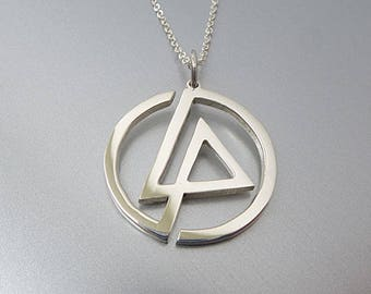 Linkin Park Necklace - Sterling Silver Linkin Park Charm - Linkin Park Pendant - Linkin Park Jewelry