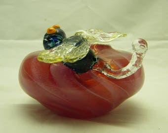 Dragonfly Bowl Handblown and Sculpted fine art glass