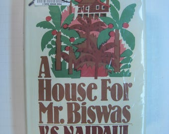 A House for Mr. Biswas, V.S. Naipaul, 1st Edition thus/1st Printing, Fair/Very Good 1983 X-Lib. Hardcover/Brodart-protected DJ