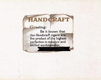 Handcraft Inner Cigar Box Label Ferd Haak Maker Davenport, Iowa #2