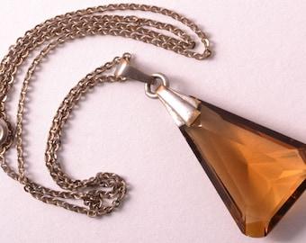 Art Deco Crystal Pendant (636i)