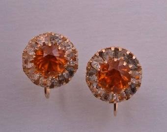 10ct Gold Vintage Screw On Earrings (667v)