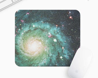 Galaxy and Stars Mouse Pad, Universe Mousepad, Rectangle or Round, Gift mp0002