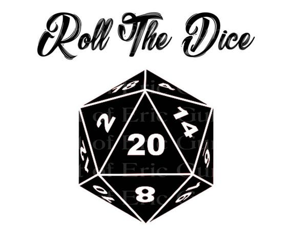 D20 Roleplay Game Roll the Dice Birthday - Edible Cake and Cupcake Topper For Birthday's and Parties! - D22912