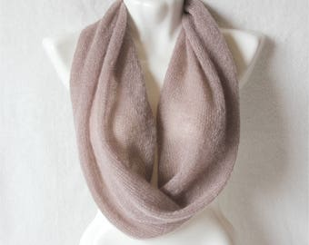Mohair scarf, color dusty rose