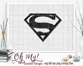 Superman Svg Dxf Eps Png Cutting File