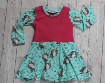 Twirly Skirt Dress.....Sparkly Unicorns