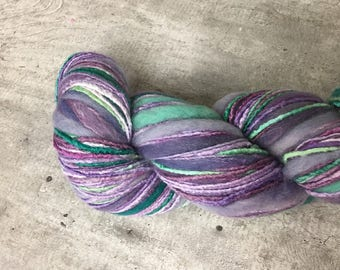 Universal Bamboo Bloom Handpaints Color 326 Enchi Purple and Green Multicolored Yarn