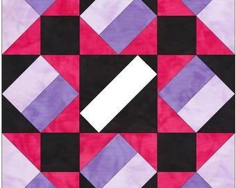 Extravaganza 10 Inch Paper Piece Foundation Quilting Block Pattern PDF