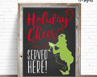 INSTANT DOWNLOAD: 8x10 Holiday Cheer Served Here