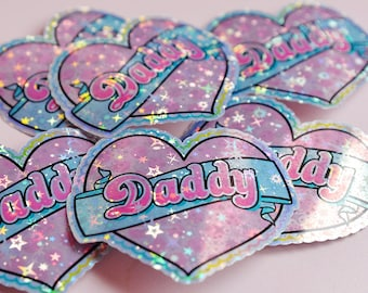 Daddy's Girl V2, DDLG Heart Holographic Sticker