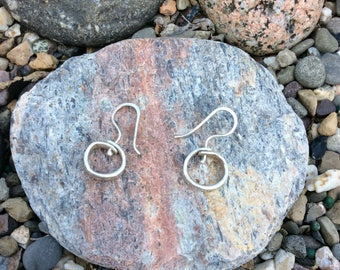Small Hammered Sterling Silver Hoops