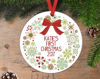 Baby's First Christmas Ornament - Baby Christmas Ornament - New Baby Gift Baby Christmas Gift