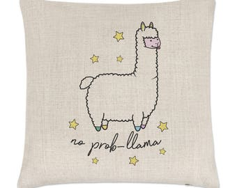 No Prob-Llama Linen Cushion Cover