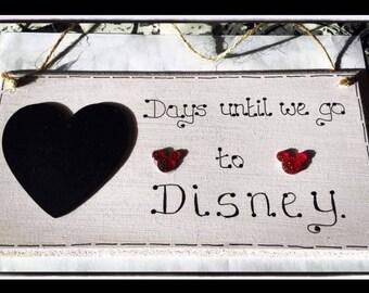 Disney countdown -days to disney - holiday Disney- Personalized for kids - Disneyland