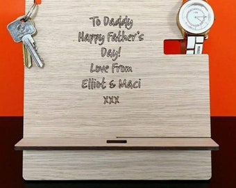 Fathers day - tablet stand- personalized- dad- daddy- grandad