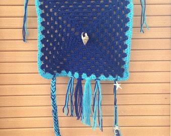 Crocheted summer wall tapestry
