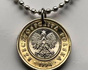 Polish eagle pendant etsy 1994 poland 2 zlote coin pendant polska white eagle warsaw krakw pozna polish crown pole polak mozeypictures Images