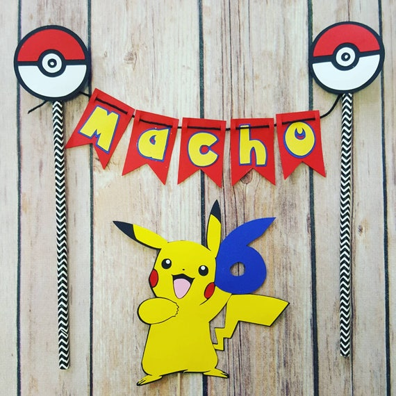 Pokemon Cake Topper | Pikachu Cake Topper  2 piece set